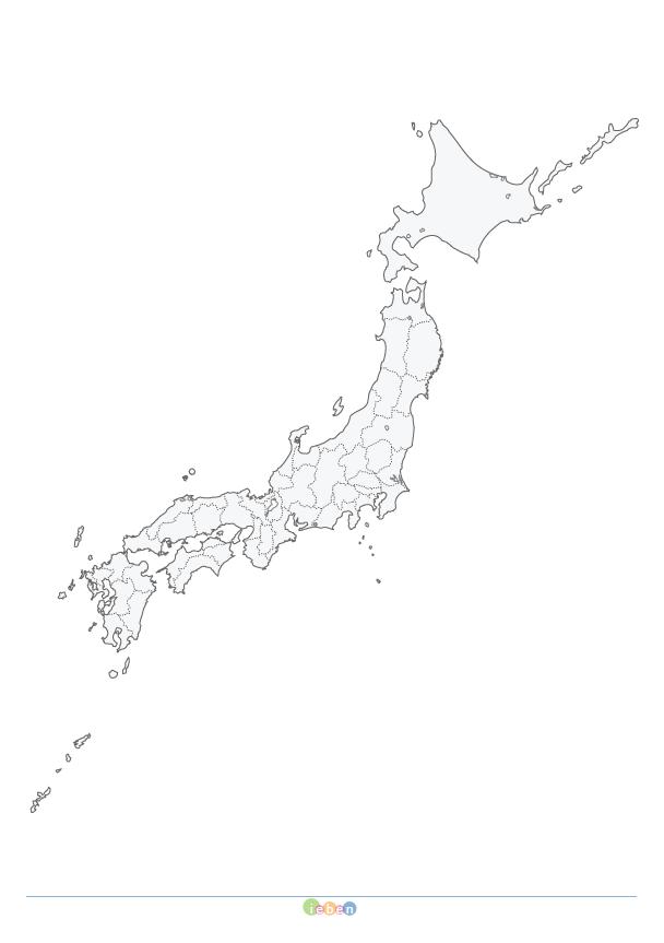 白地図 日本 地図